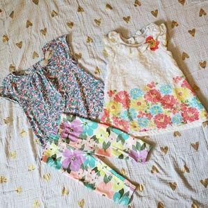 Toddler floral lot 2T